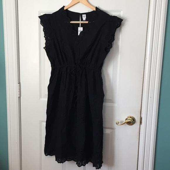 GAP BLACK EYELET MATERNITY DRESS XL
